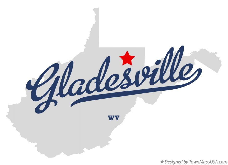 Map of Gladesville West Virginia WV