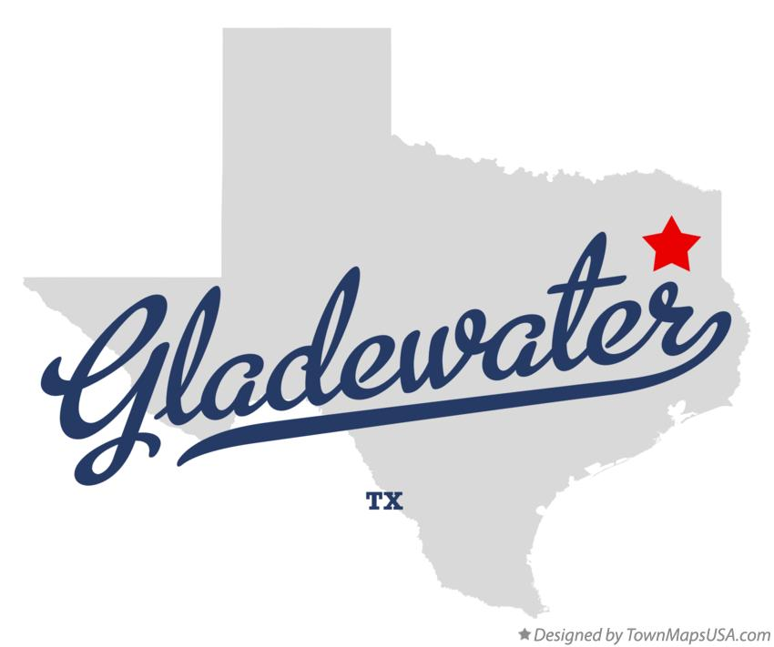 Map of Gladewater Texas TX