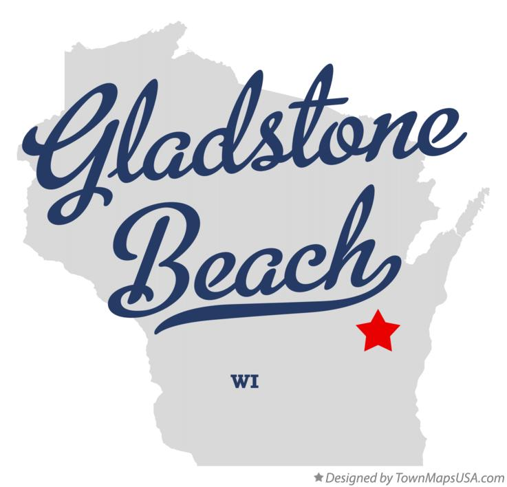 Map of Gladstone Beach Wisconsin WI