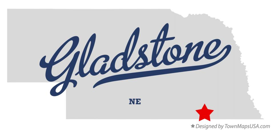 Map of Gladstone Nebraska NE