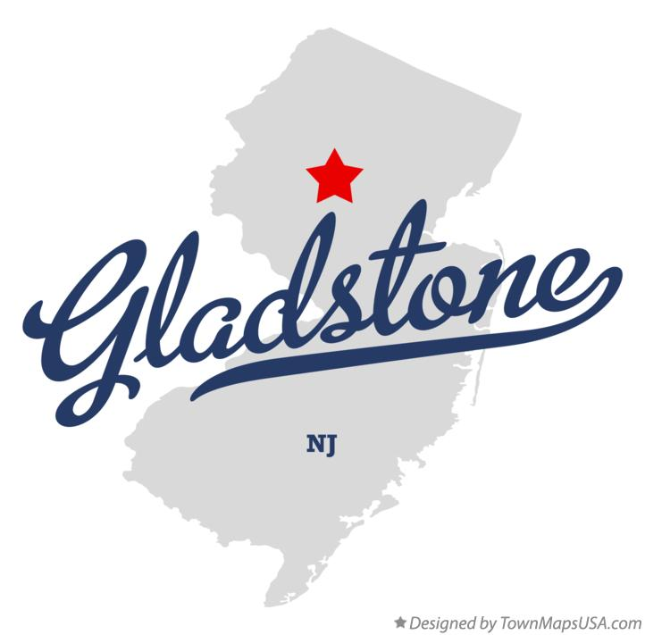 Map of Gladstone New Jersey NJ