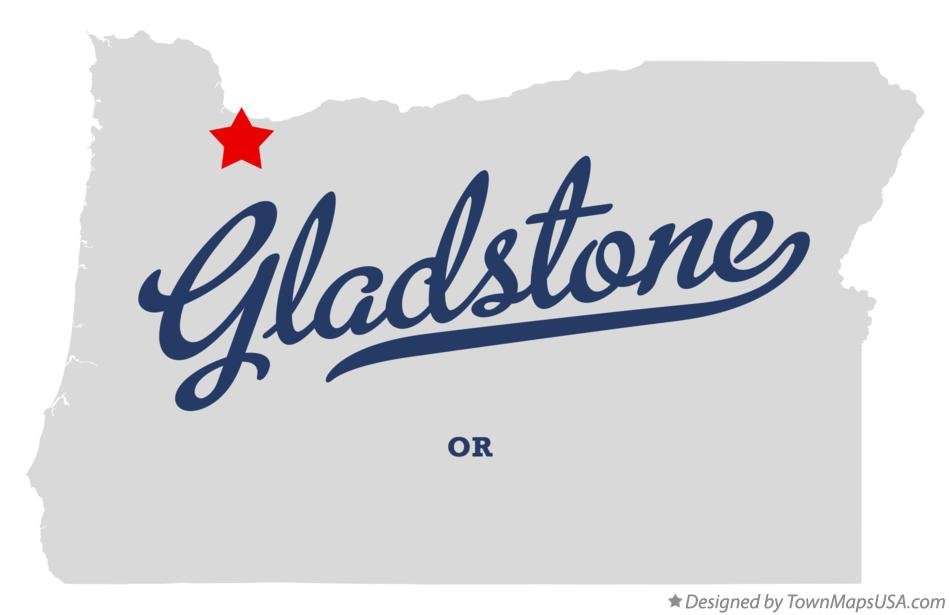Map of Gladstone Oregon OR