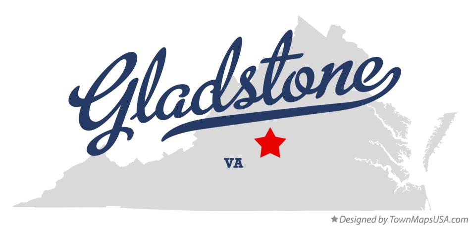Map of Gladstone Virginia VA