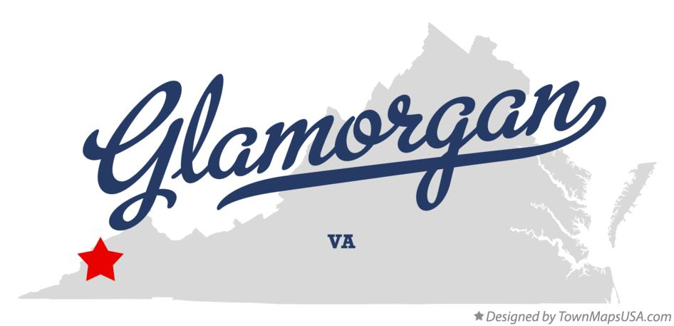 Map of Glamorgan Virginia VA