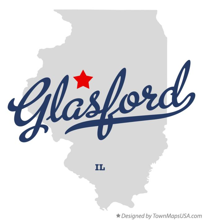 Map of Glasford Illinois IL