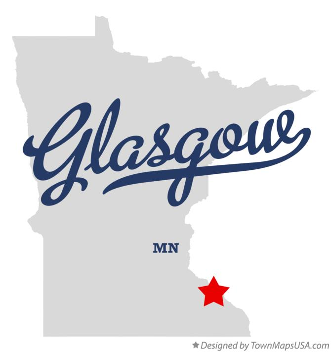 Map of Glasgow Minnesota MN