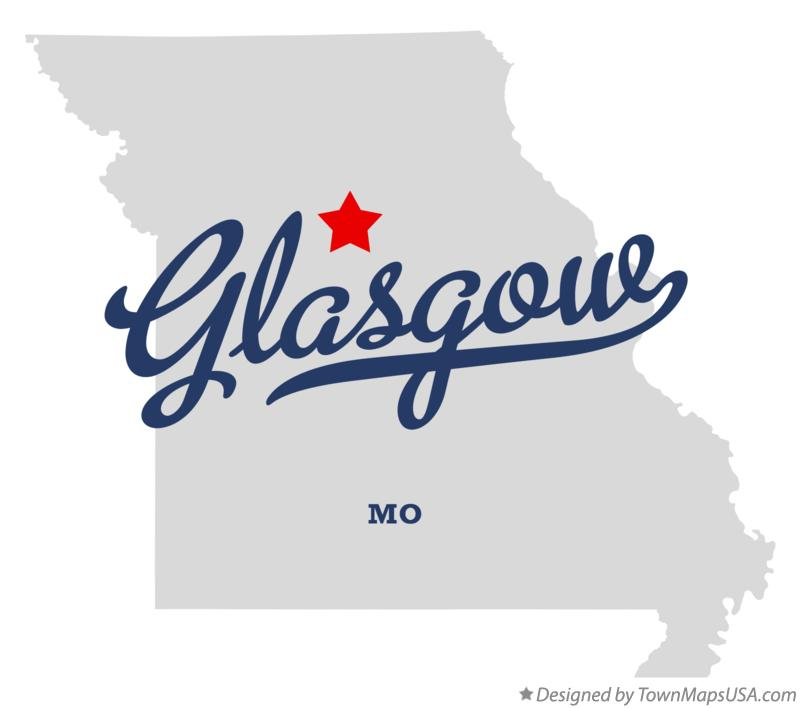 Map of Glasgow Missouri MO