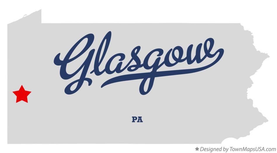 Map of Glasgow Pennsylvania PA