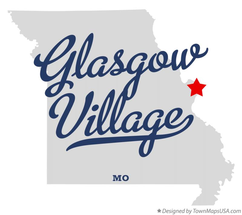 Map of Glasgow Village Missouri MO