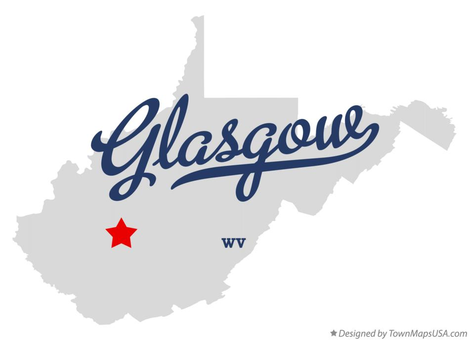 Map of Glasgow West Virginia WV