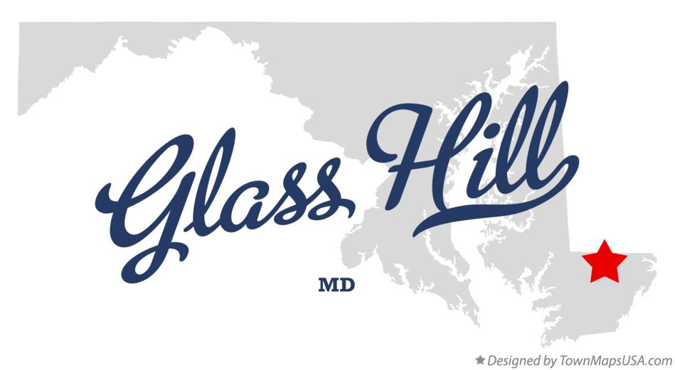 Map of Glass Hill Maryland MD