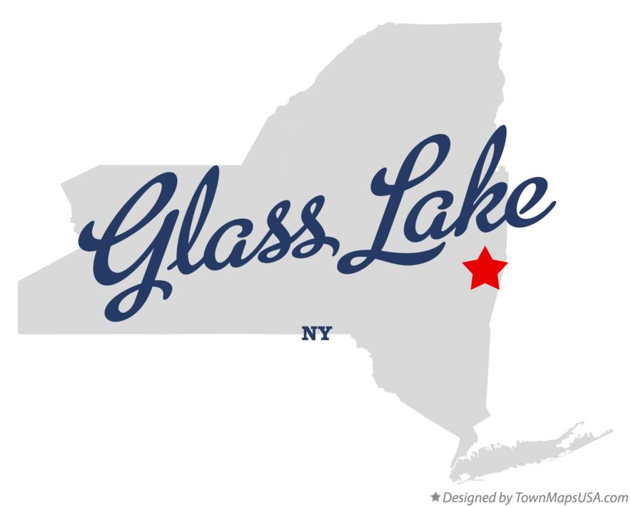 Map of Glass Lake New York NY