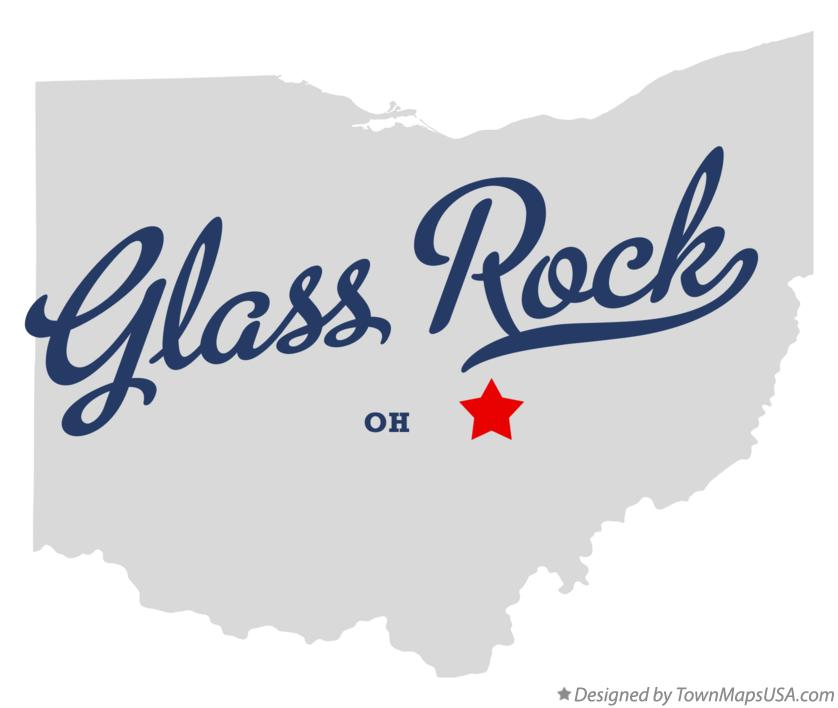 Map of Glass Rock Ohio OH