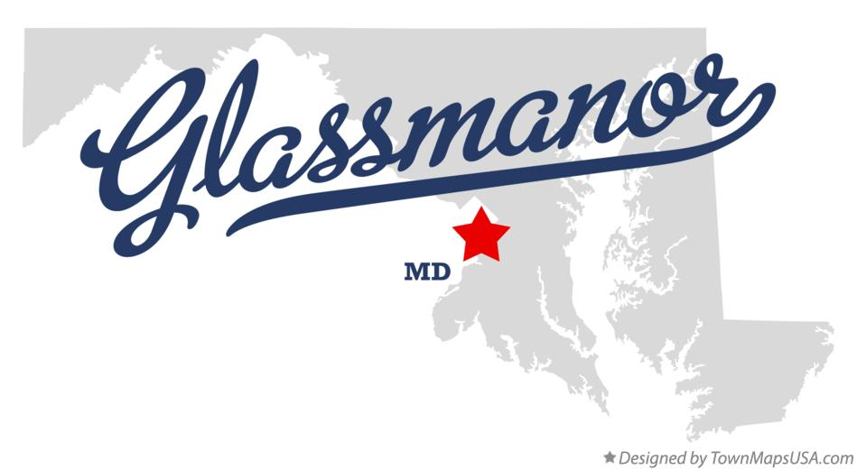 Map of Glassmanor Maryland MD