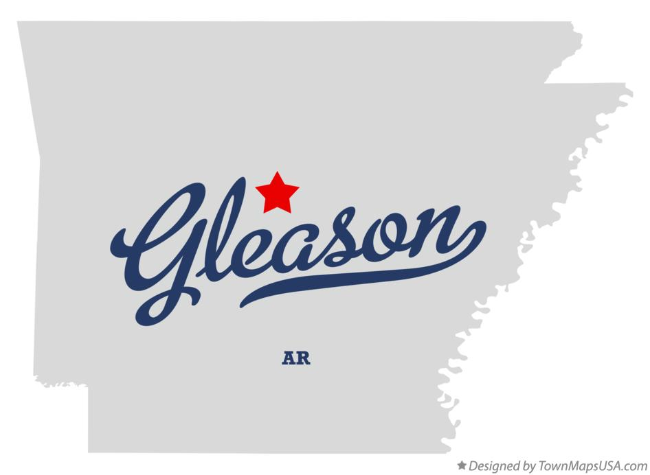 Map of Gleason Arkansas AR