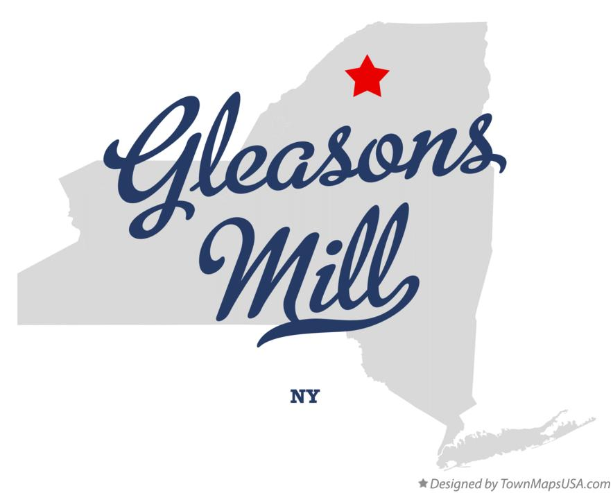 Map of Gleasons Mill New York NY