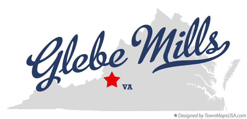 Map of Glebe Mills Virginia VA