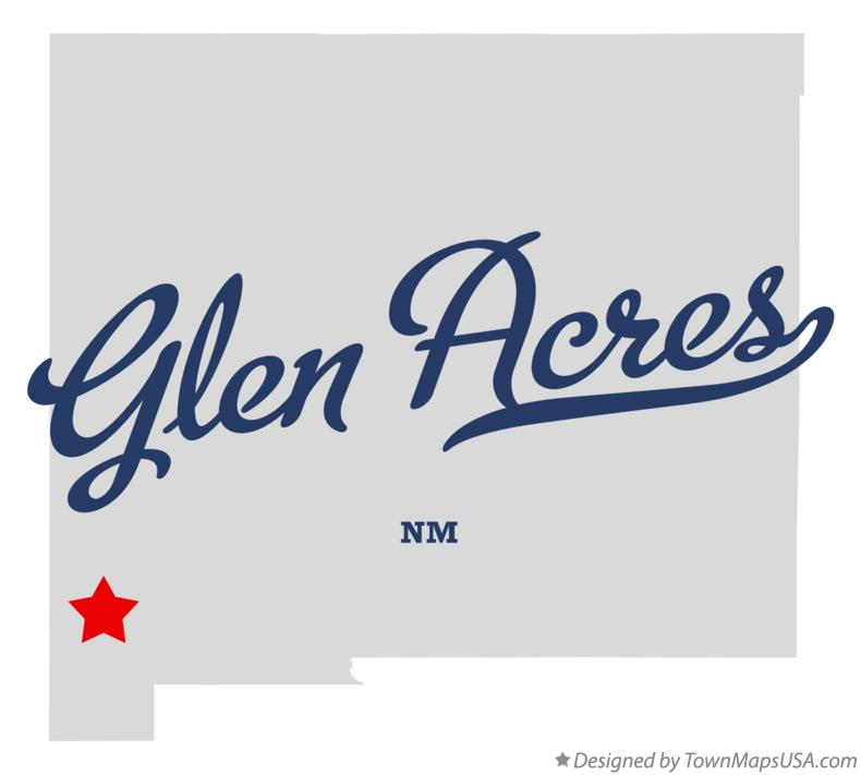 Map of Glen Acres New Mexico NM