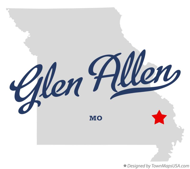 Map of Glen Allen Missouri MO