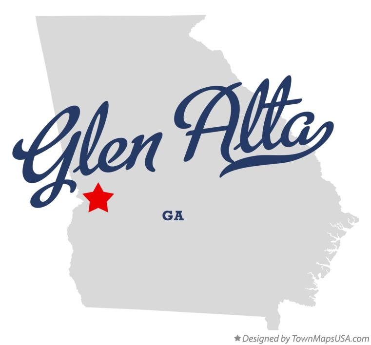Map of Glen Alta Georgia GA