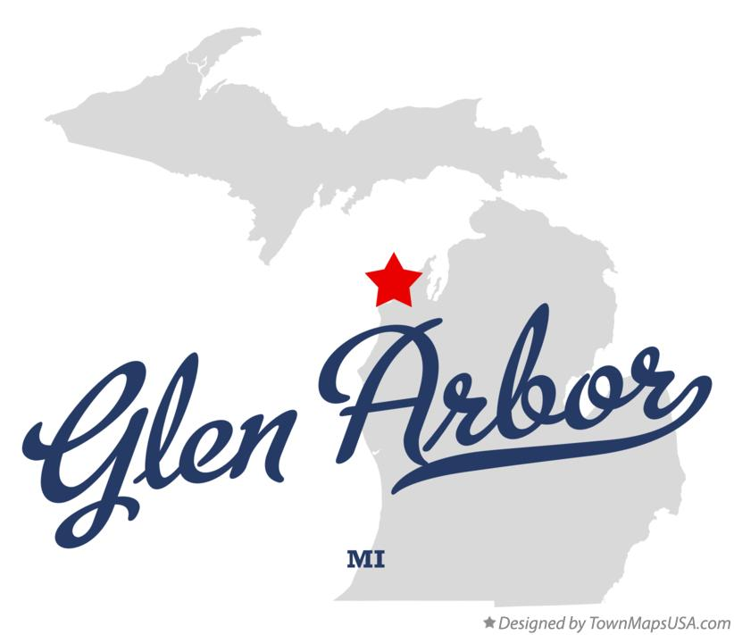 Map of Glen Arbor Michigan MI