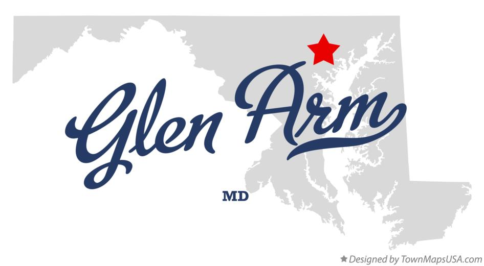 Map of Glen Arm Maryland MD