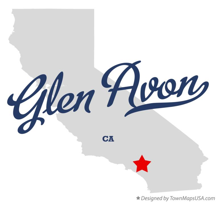 Map of Glen Avon California CA