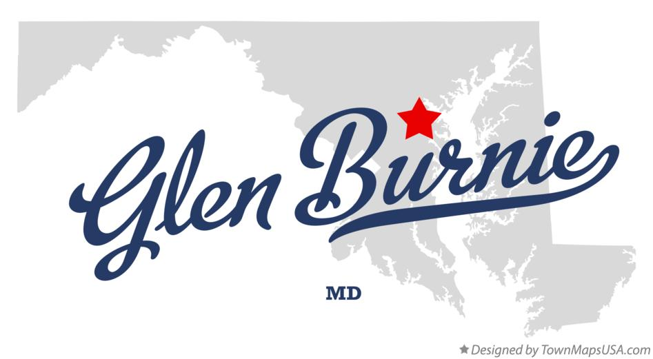 Map of Glen Burnie Maryland MD