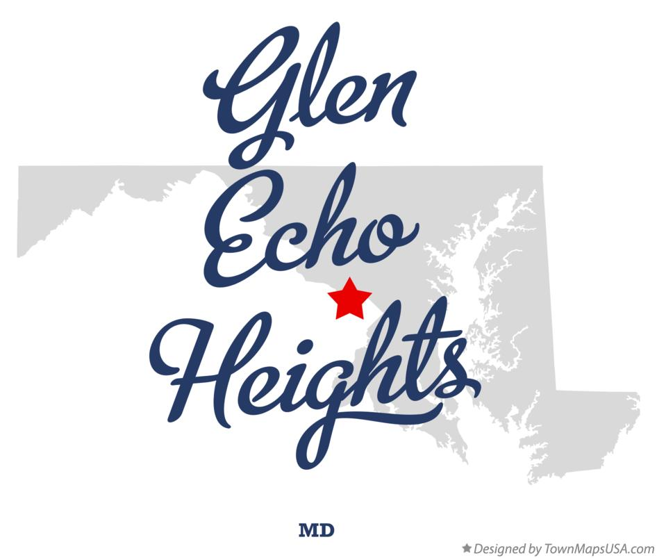 Map of Glen Echo Heights Maryland MD