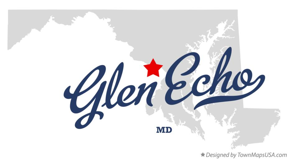 Map of Glen Echo Maryland MD
