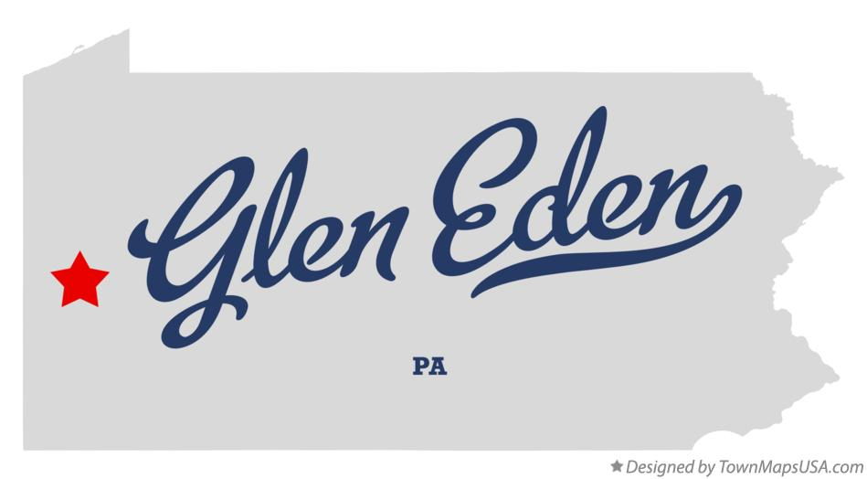 Map of Glen Eden Pennsylvania PA