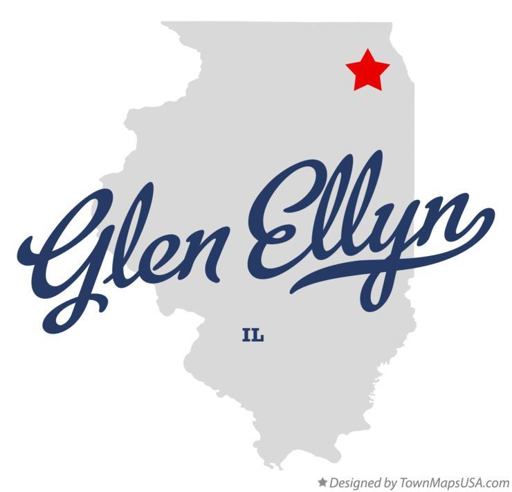 Glen Ellen Illinois Map.Map Of Glen Ellyn Il Illinois
