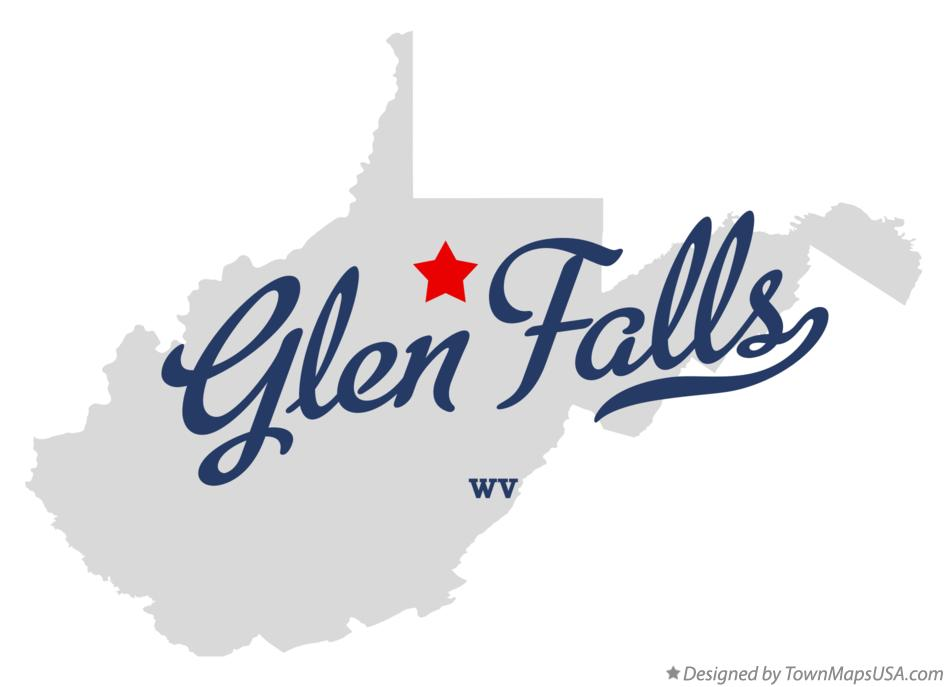 Map of Glen Falls West Virginia WV