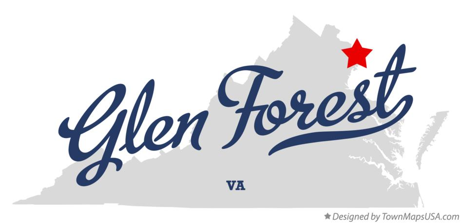Map of Glen Forest Virginia VA