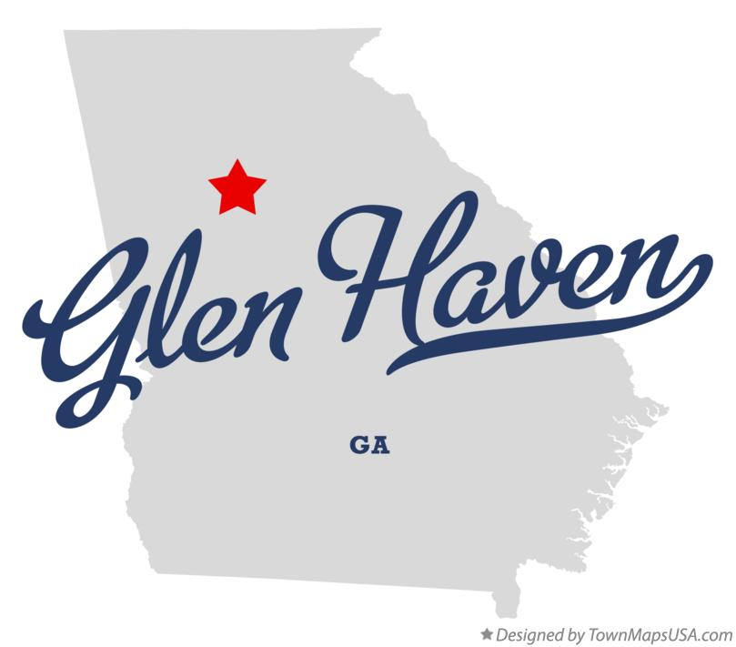 Map of Glen Haven Georgia GA