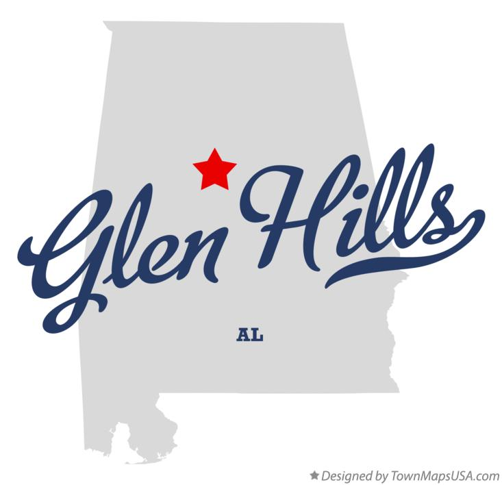 Map of Glen Hills Alabama AL