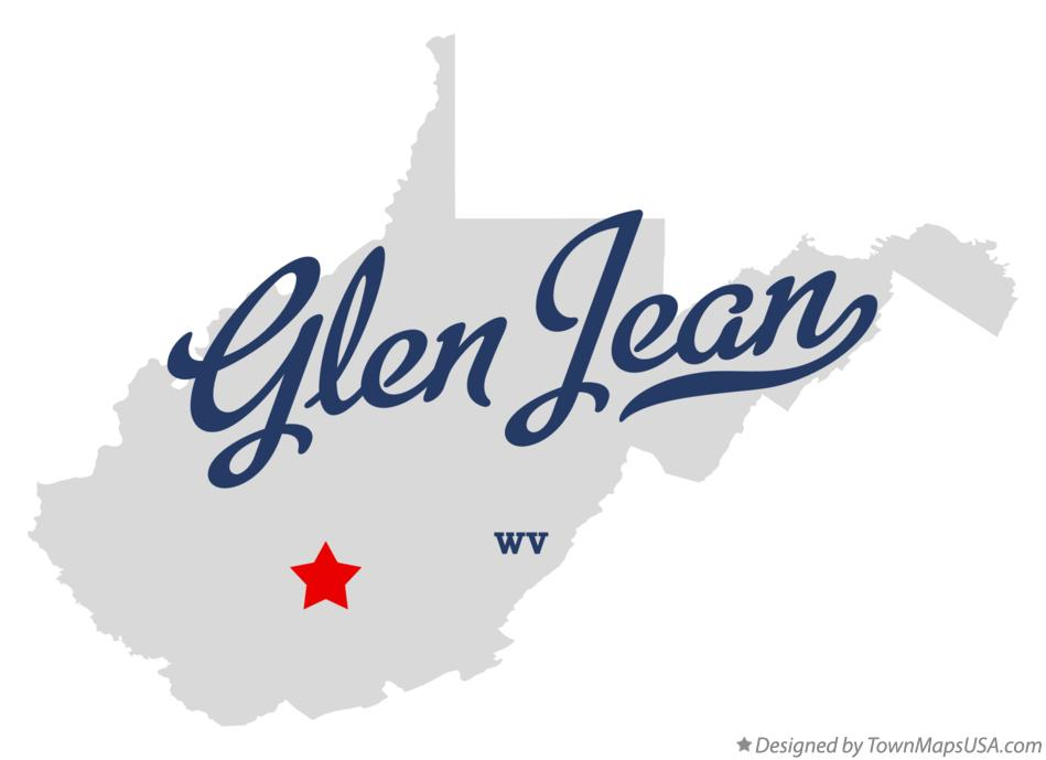 Map of Glen Jean West Virginia WV