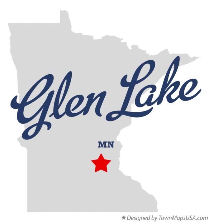 Map of Glen Lake Minnesota MN
