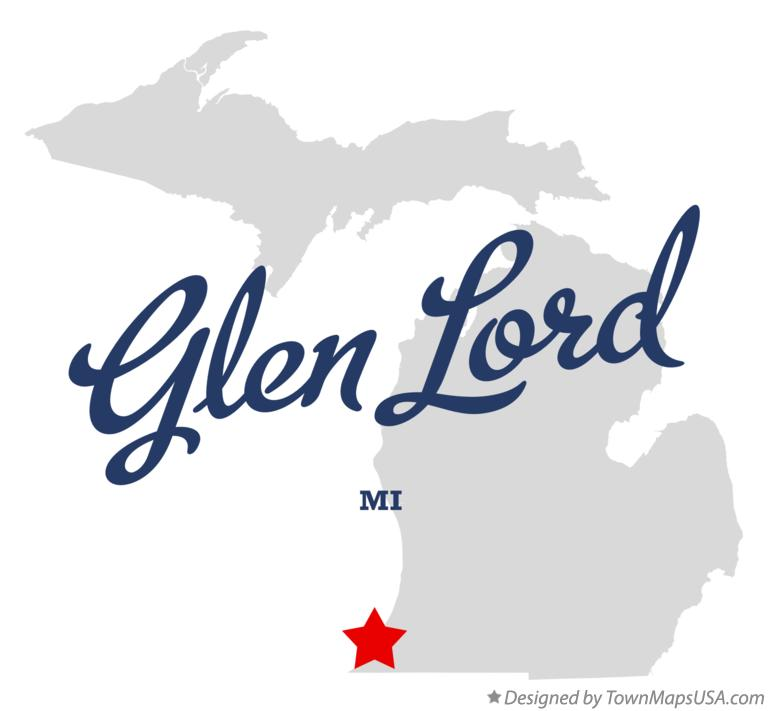 Map of Glen Lord Michigan MI