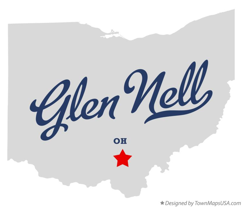 Map of Glen Nell Ohio OH