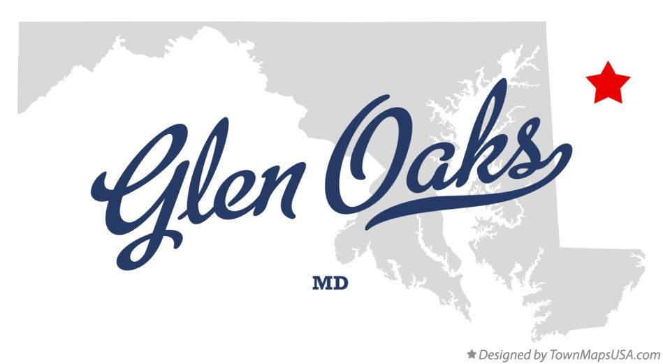 Map of Glen Oaks Maryland MD