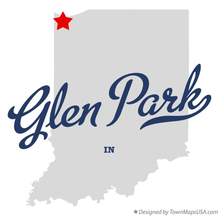 Map of Glen Park Indiana IN