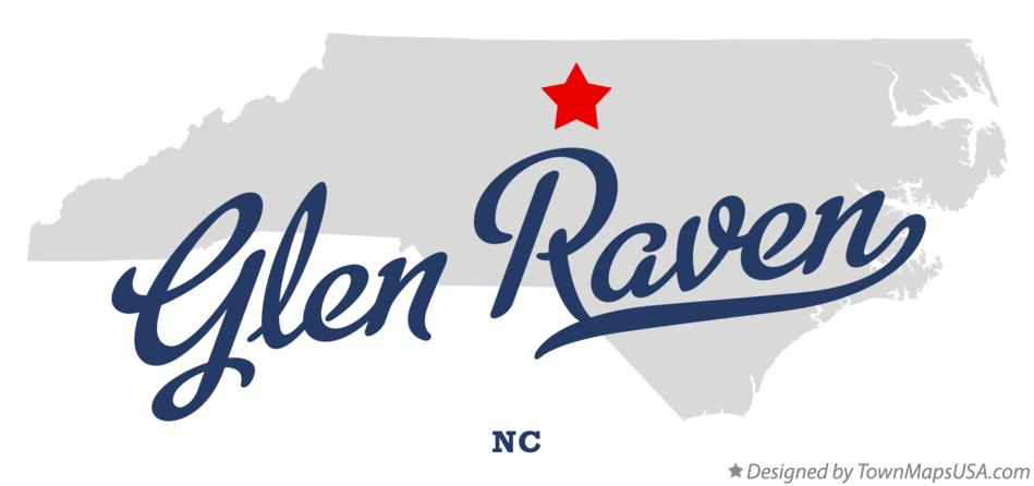 Map of Glen Raven North Carolina NC