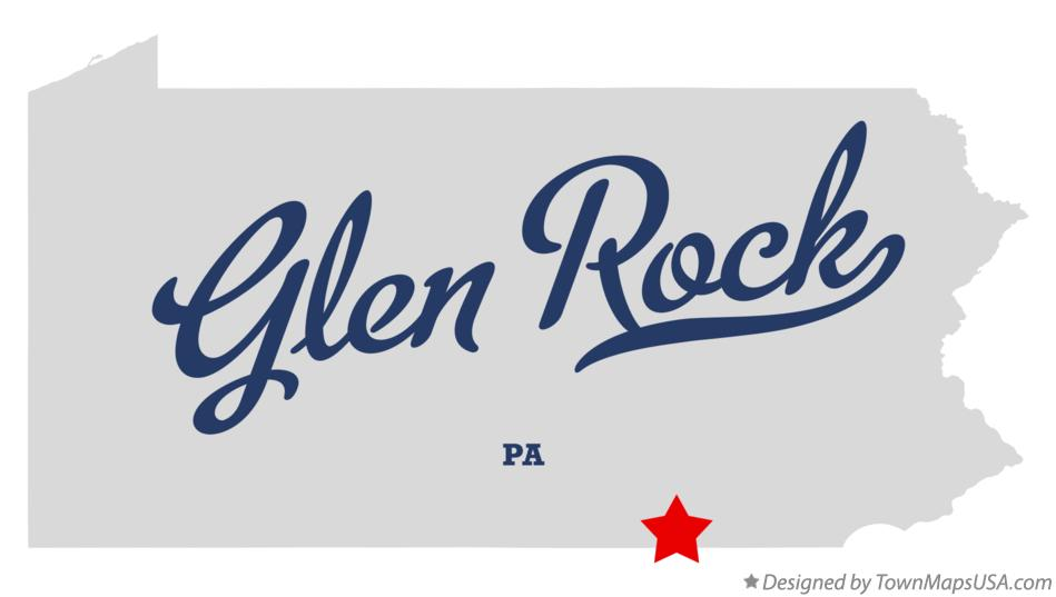 Map of Glen Rock Pennsylvania PA