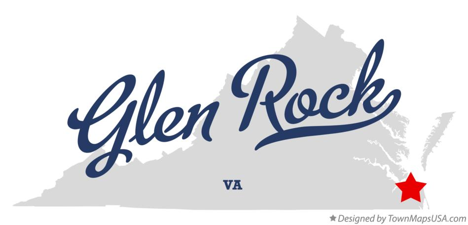 Map of Glen Rock Virginia VA