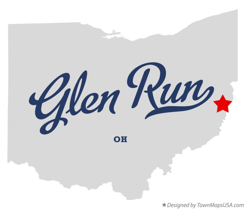 Map of Glen Run Ohio OH