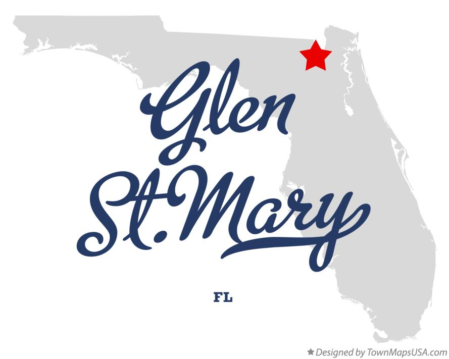 Map of Glen St.Mary Florida FL