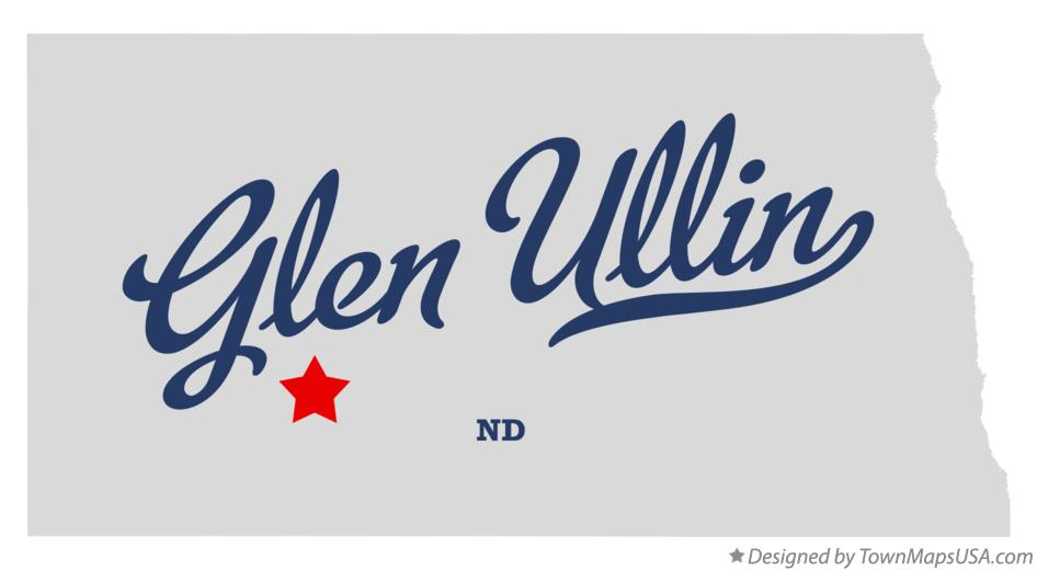 Map of Glen Ullin North Dakota ND