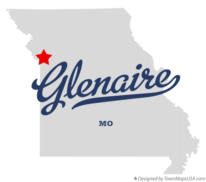 Map of Glenaire Missouri MO