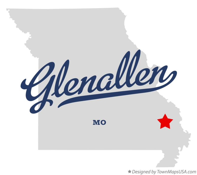Map of Glenallen Missouri MO